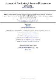 Efficacy in angiotensin receptor blockade - Journal of the Renin ...