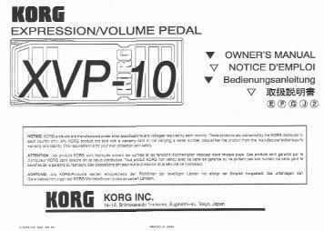 XVP-10.pdf - Korg