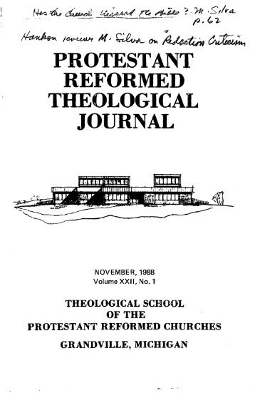 November 1988 (pdf) - Protestant Reformed Churches in America