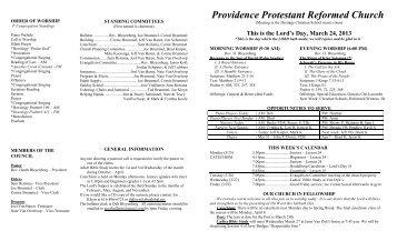 Providence Protestant Reformed Church