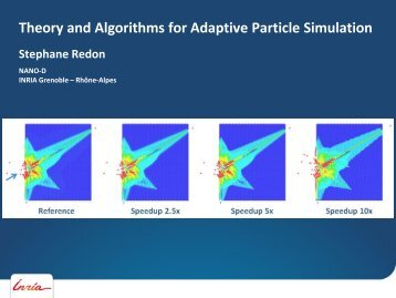 Theory and Algorithms for Adaptive Particle Simulation - Inria