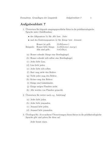 Aufgabenblatt 7
