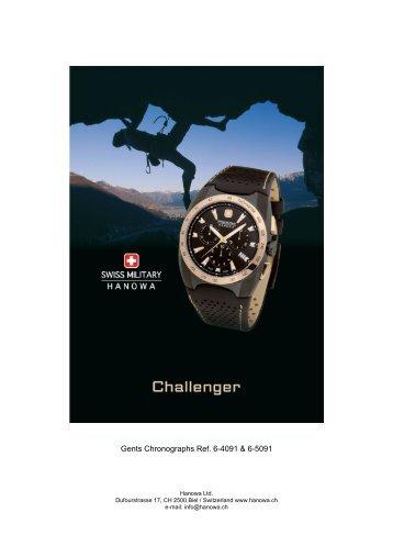 Gents Chronographs Ref. 6-4091 & 6-5091 - swiss military - hanowa