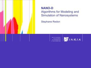 NANO-D Algorithms for Modeling and Simulation of Nanosystems