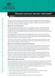 Should contract law be reformed? - Attorney-General's Department