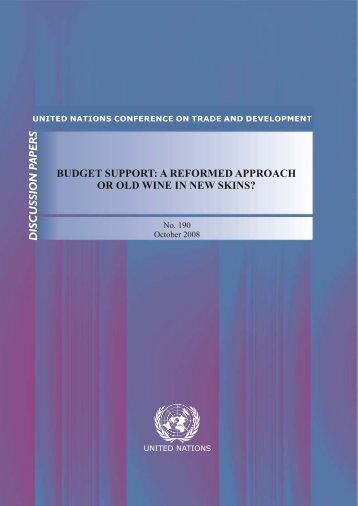 budget support: a reformed approach or old wine in new ... - Unctad