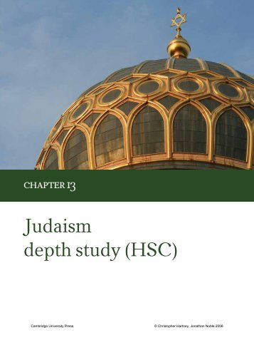 Chapter 13 Judaism depth study (HSC) - Cambridge