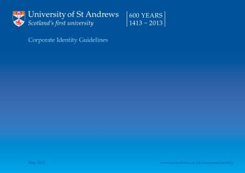 Corporate Identity Guidelines - University of St Andrews