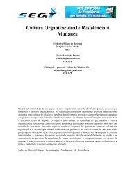 Cultura Organizacional e Resistência a Mudança - aedb