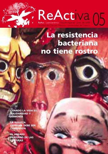 La resistencia bacteriana no tiene rostro - ReAct