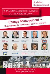 Change Management - Unternehmen in ... - St. Galler Business School