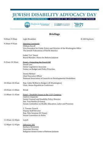 Briefings - The Jewish Federations of North America