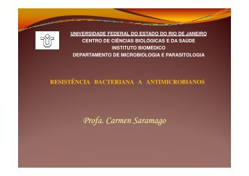 Resistência Bacteriana - Unirio