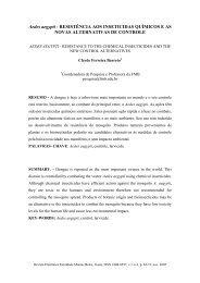 Aedes aegypti - RESISTÊNCIA AOS INSETICIDAS QUÍMICOS E AS ...
