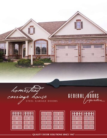 homestead ™ carriage house - General Doors Corporation