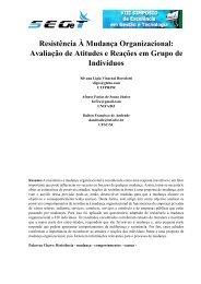 Resistência À Mudança Organizacional: Avaliação de ... - aedb