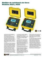 Medidor de resistencia de tierra Modelos 4620 y 4630 - Reportero ...