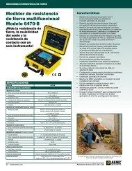 Medidor de resistencia de tierra multifuncional Modelo 6470-B