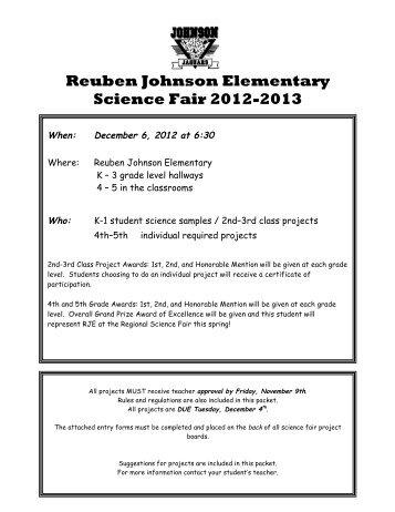 Reuben Johnson Elementary Science Fair 2012-2013 - McKinney ...