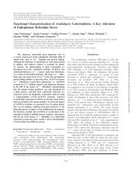 Functional Characterization of - Plant and Cell Physiology