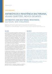 antibióticos e resistência bacteriana, velhas questões, novos desafios