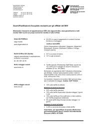 Sconti/Facilitazioni d'acquisto - SEV