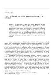 Early Iron Age balance weights at Lefkandi, Euboea