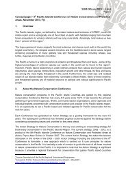 Concept paper - 9th Pacific Islands Conference on Nature ... - SPREP