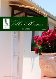 Fact Sheet - Villa Phoenix Apartments & Studios