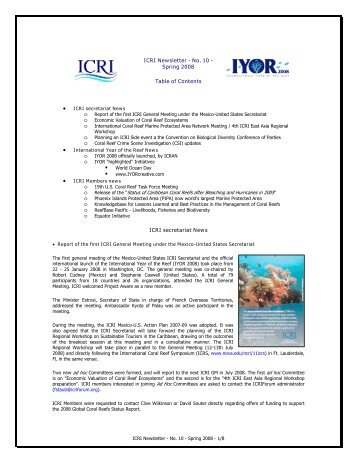 Download Document - International Coral Reef Initiative
