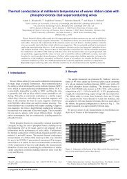 Thermal conductance at millikelvin temperatures of ... - Lowtemp.org