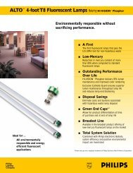 ALTO™ 4-foot T8 Fluorescent Lamps Featuring HI-VISION™ Phosphor