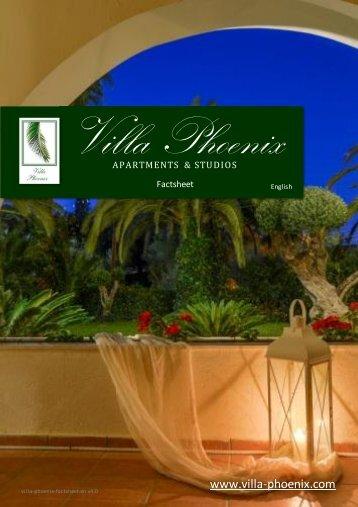 Villa Phoenix Factsheet - Villa Phoenix Apartments & Studios