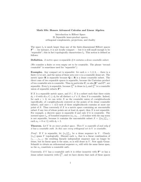 Math 55b: Honors Advanced Calculus and Linear Algebra