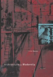 Architecture and Modernity : A Critique