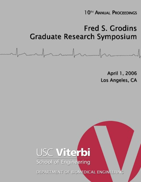 10th Annual Proceedings - Fred S. Grodins Research Symposium ... on
