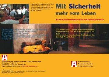 Flyer Lehrpfad.qxd - Die Sicherheits Arena
