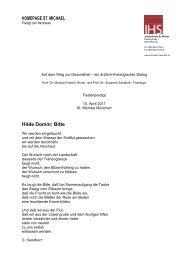HOMEPAGE ST. MICHAEL Hilde Domin: Bitte - Jesuiten St. Michael