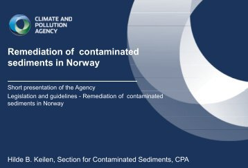 Norwegian council on contaminated sediments
