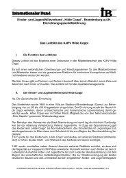 """Kinder- und Jugendhilfeverbund """"Hilde Coppi"""" - Internationaler Bund"""