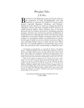 Phrygian Tales – Home - web.duke.edu - Duke University