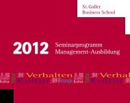 Broschüre - St. Galler Business School
