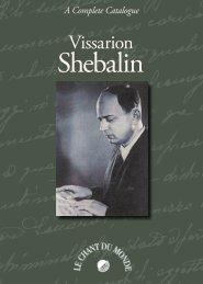 Vissarion Shebalin - Le Chant Du Monde