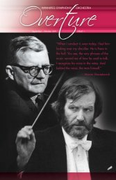 Issue 1: September – October - Winnipeg Symphony Orchestra