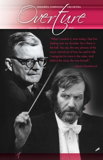 Issue 1: September – October - Winnipeg Symphony Orchestra