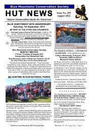 August - Blue Mountains Conservation Society