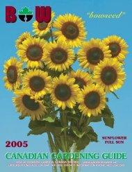 """""""bowseed"""" - Alberta Nurseries Presents... Gardeners Web"""