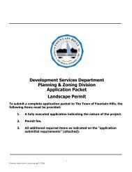 Landscaping Permit Application - Town of Fountain Hills