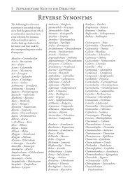 Reverse synonyms (104KB)