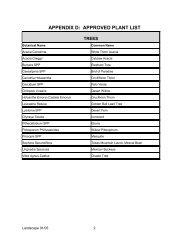 appendix d: approved plant list - Legend Trail Community Association